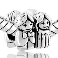 Charms Beads - SILVER BRIDE BRIDEGROOM EUROPEAN INFANT CHARM BEAD CHARMS BRACELETS alternate image 1.