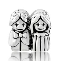 Charms Beads - SILVER BRIDE BRIDEGROOM EUROPEAN INFANT CHARM BEAD CHARMS BRACELETS alternate image 2.