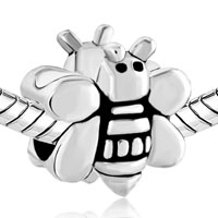 European Beads - LOVELY BEE SHAPE SILVER PLATED BEADS CHARMS BRACELETS alternate image 1.
