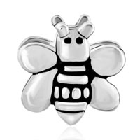 European Beads - LOVELY BEE SHAPE SILVER PLATED BEADS CHARMS BRACELETS alternate image 2.