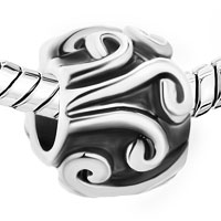 Charms Beads - SILVER PLATED TRIBAL SWIRL INFANT BEADS CHARMS BRACELETS FIT ALL BRANDS alternate image 1.
