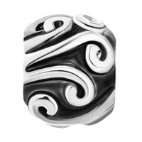 Charms Beads - SILVER PLATED TRIBAL SWIRL INFANT BEADS CHARMS BRACELETS FIT ALL BRANDS alternate image 2.