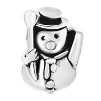 Charms Beads - SILVER PLATED CHRISTAMS SNOWMAN BROOM EUROPEAN BEAD CHARM BRACELETS alternate image 2.