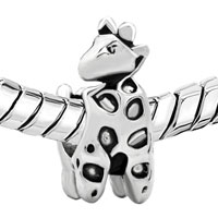 Charms Beads - SILVER DEER ANIMAL CHARMS FOR BRACELETS EUROPEAN INFANT CHARM BEAD alternate image 1.