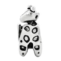 Charms Beads - SILVER DEER ANIMAL CHARMS FOR BRACELETS EUROPEAN INFANT CHARM BEAD alternate image 2.