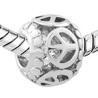 Charms Beads - SILVER FILIGREE VINTAGE ANTIQUE PEACE EUROPEAN BEAD CHARM BRACELETS alternate image 1.