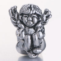 Charms Beads - SILVER ANGEL SQUATTING HEAR NO EVIL EUROPEAN BEAD CHARMS BRACELETS alternate image 2.