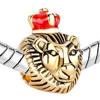 New Year Deals - 22K GOLDEN LION KING RED DRIP CROWN EUROPEAN BEAD CHARMS BRACELETS alternate image 1.