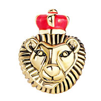 New Year Deals - 22K GOLDEN LION KING RED DRIP CROWN EUROPEAN BEAD CHARMS BRACELETS alternate image 2.