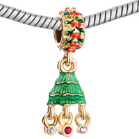 New Year Deals - GREEN DRIP GUM RED XMAS TREE RED CRYSTAL BEADS CHARMS BRACELETS alternate image 1.