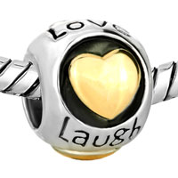 Charms Beads - SMILE HEART CHARM BRACELET LIVE LOVE LAUGH EUROPEAN BEADBRACELETS alternate image 1.