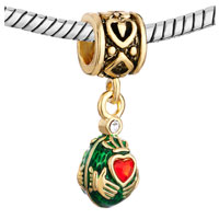 Charms Beads - VINTAGE GOLDEN PATTERN DANGLE CLADDAGH LOVE BEADS CHARMS EUROPEAN alternate image 1.