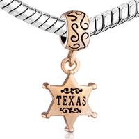 Charms Beads - SILVER SNOWFLAKE STAR TEXAS DANGLE CHARM BRACELET SPACER GOLDEN alternate image 1.