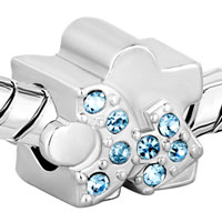 Charms Beads - MAR BIRTHS AQUAMARINE BLUE CRYSTAL PEOPLE SHAPE BEAD CHARM CHARM alternate image 1.