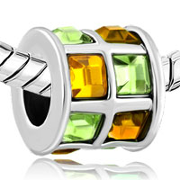 New Arrivals - TOPAZ YELLOW GREEN ELEMENTS CRYSTAL TILES DRUM LUCKY CHARM BRACELETS alternate image 1.