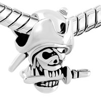 Charms Beads - HALLOWEEN SKULL CHARM PIRATES OF THE CARIBBEAN CAPTAIN JACK BEAD alternate image 1.