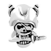 Charms Beads - HALLOWEEN SKULL CHARM PIRATES OF THE CARIBBEAN CAPTAIN JACK BEAD alternate image 2.