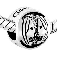 Charms Beads - SILVER SILVER TONE GEMINI HOROSCOPE ZODIAC LUCKY CHARM BRACELET alternate image 1.