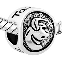 Charms Beads - SILVER SILVER TONE TAURUS HOROSCOPE ZODIAC LUCKY CHARM BRACELET alternate image 1.