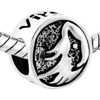 Charms Beads - SILVER SILVER TONE VIRGO HOROSCOPE ZODIAC LUCKY CHARM BRACELET alternate image 1.