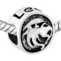 Charms Beads - SILVER PLATED SILVER TONE LEO HOROSCOPE ZODIAC LUCKY CHARM BRACELETS alternate image 1.