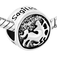 Charms Beads - SILVER TONE SAGITTARIUS HOROSCOPE ZODIAC LUCKY CHARMS BRACELETS alternate image 1.