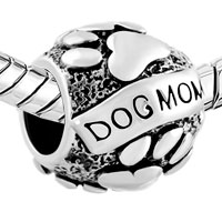 Charms Beads - MOTHER DAUGHTER CHARMS DOG CHARM BRACELET MOM ON PUPPY DOG CHARM alternate image 1.
