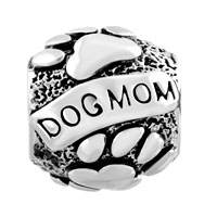 Charms Beads - MOTHER DAUGHTER CHARMS DOG CHARM BRACELET MOM ON PUPPY DOG CHARM alternate image 2.