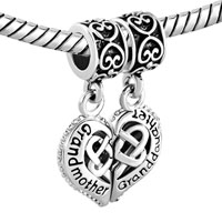 Charms Beads - GRANDMOTHER GRANDDAUGHTER HEART CELTIC KNOT CHARMS FOR BRACELET alternate image 1.