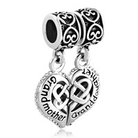 Charms Beads - GRANDMOTHER GRANDDAUGHTER HEART CELTIC KNOT CHARMS FOR BRACELET alternate image 2.