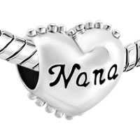 Charms Beads - HEART NANA YOU ARE SPECIAL CHARM BRACELET SPACERS SILVER BRACELETS alternate image 1.