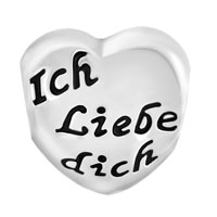 Charms Beads - HEART TOCHTER MAMA MUTTER ICH LIEBE DICH CHARM BRACELET SPACER SILVER alternate image 2.