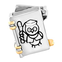 Charms Beads - HALLOWEEN HARRY POTTER FAN WISE OWL MAGIC BOOK GRADUATION CHARMS alternate image 2.