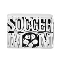 Charms Beads - SILVER PLATED SOCCER MOM FOOTBALL SPORTS CHARMS FOR BRACELETS LOVER alternate image 2.