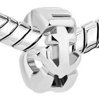 Charms Beads - SILVER PLATED ANCHOR FOR BEADS CHARMS BRACELETS FIT ALL BRANDS alternate image 1.