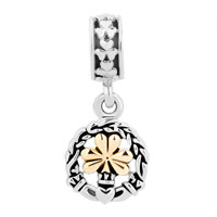Charms Beads - CELTIC KNOTS ANTIQUE FLOWER DANGLE FOR BEADS CHARMS BRACELETS FIT ALL BRANDS alternate image 2.