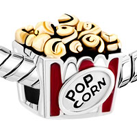 Charms Beads - HOT FOOD POP CORN FOR BEADS CHARMS BRACELETS FIT ALL BRANDS alternate image 1.
