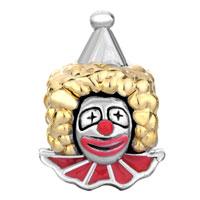 Charms Beads - SILVER 22K GOLDEN VIVID CLOWN RED EUROPEAN BEAD CHARM BRACELET alternate image 2.