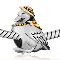 Charms Beads - SILVER LOVELY GOOSE CAP EUROPEAN INFANT CHARM BEAD CHARMS BRACELETS alternate image 1.