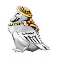 Charms Beads - SILVER LOVELY GOOSE CAP EUROPEAN INFANT CHARM BEAD CHARMS BRACELETS alternate image 2.