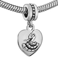 Charms Beads - ZODIAC ANIMAL CHARMS FOR SIGN SNAKE DANGLE HEART LOVE CHARM BEADS alternate image 1.