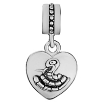 Charms Beads - ZODIAC ANIMAL CHARMS FOR SIGN SNAKE DANGLE HEART LOVE CHARM BEADS alternate image 2.