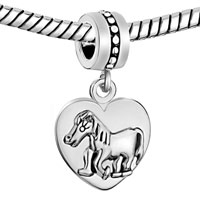 Charms Beads - ZODIAC ANIMAL CHARMS FOR SIGN HORSE DANGLE HEART LOVE CHARM BEADS alternate image 1.