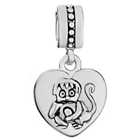 Charms Beads - ZODIAC ANIMAL CHARM FOR BRACELET SIGN MONKEY DANGLE HEART LOVE CHARM S alternate image 2.