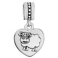 Charms Beads - ZODIAC ANIMAL CHARMS FOR SIGN SHEEP DANGLE HEART LOVE CHARM BEADS alternate image 2.
