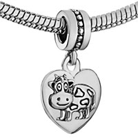 Charms Beads - HEART ZODIAC ANIMAL CHARM FOR BRACELET SIGN OX DANGLE LOVE CHARM BEADS alternate image 1.