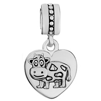 Charms Beads - HEART ZODIAC ANIMAL CHARM FOR BRACELET SIGN OX DANGLE LOVE CHARM BEADS alternate image 2.