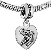 Charms Beads - ZODIAC ANIMAL CHARMS FOR SIGN RAT DANGLE HEART LOVE CHARM BEADS alternate image 1.
