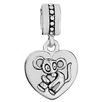 Charms Beads - ZODIAC ANIMAL CHARMS FOR SIGN RAT DANGLE HEART LOVE CHARM BEADS alternate image 2.