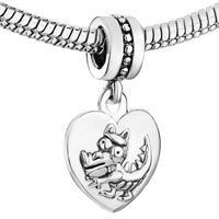 Charms Beads - ZODIAC ANIMAL SIGN DRAGON HEART LOVE DANGLE EUROPEAN BEADS FIT ALL BRANDS CHARMS BRACELETS alternate image 1.